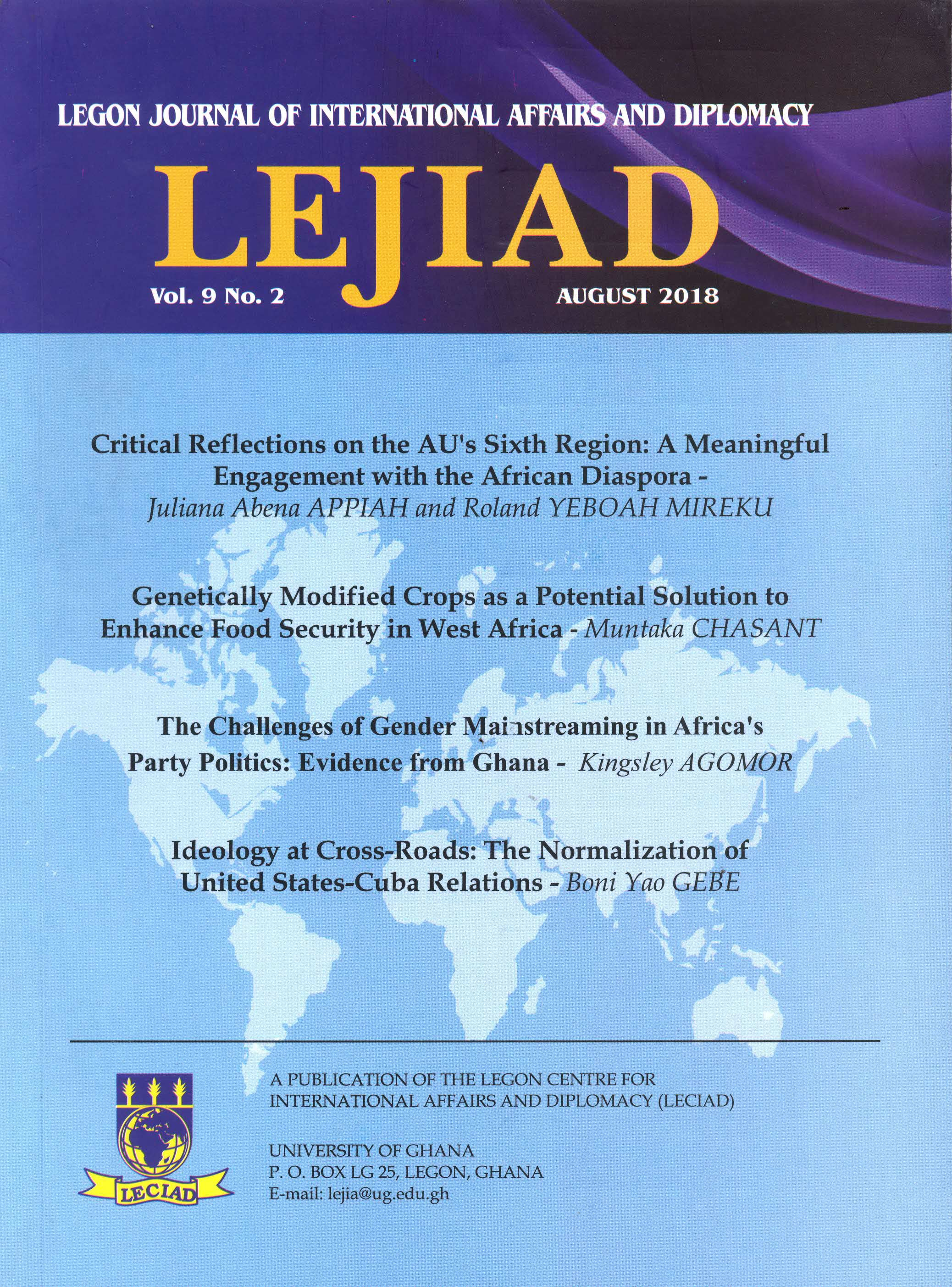Legon Journal for International Affairs and Diplomacy